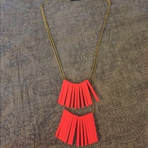 Statement Necklace Long Orange from H&M